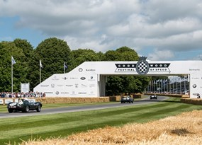 Cars on circuit at Goodwood Festival of Speed.