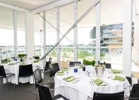 Photo of the Carriages Restaurant at Royal Ascot.