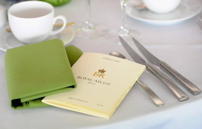 Royal Ascot Hospitality – Carriages Restaurant Place Setting