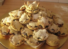 Amazing mince pies made during a christmas team building event