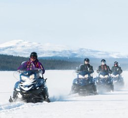 Snow mobileing in Swedish Lapland during an incentive trip.