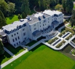 An aerial phot of Coworth Park in Ascot