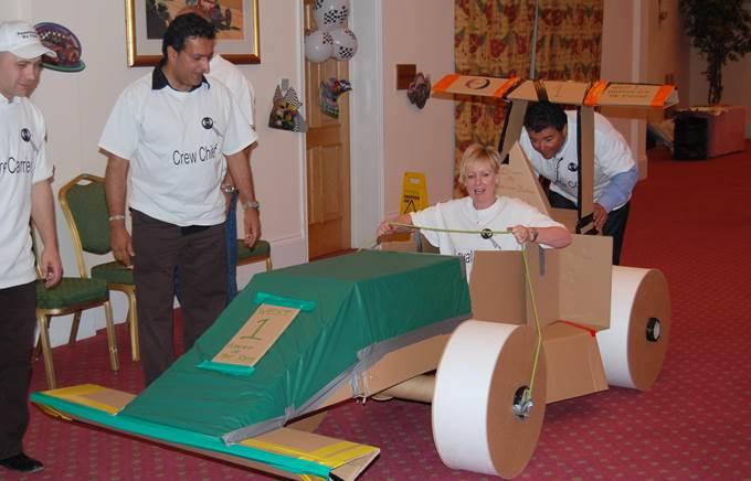 Build your own Formula 1 car team building activity 3