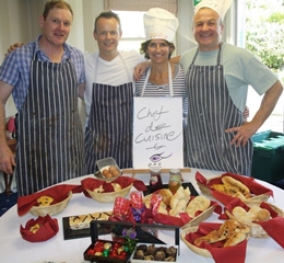 Team at the end of a Great British Bake Off Team Building Activity