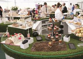 Inside the Royal Ascot Village.