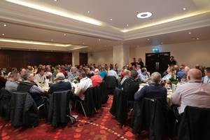 Guests enjoying autumn internationals hospitality in Rugby House at Twickenham