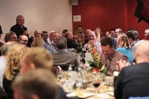 Rugby house autumn internationals hospitality facility with guests speaker