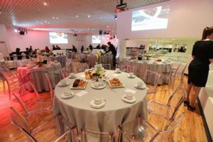 Inside St Georges Suite Autumn Internationals hopsitality facility