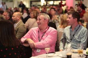 Guests listening to a guest speaker in the St Geroges Suite autumn internationals hospitality facility