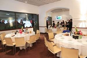 Table layout inside the Wakefield Restaurant autumn international hospitality faciltiy at the home of England Rugby