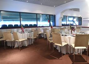 Hospitality at Twickenham stadium in the Wakefield Restaurant