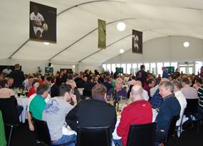 Inside the Chase Bridge hospitality facility at Twickenham Stadium.