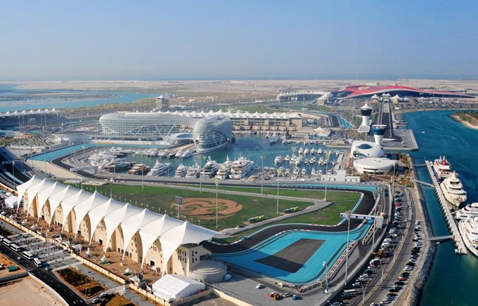 Yas Marina Circuit from the air
