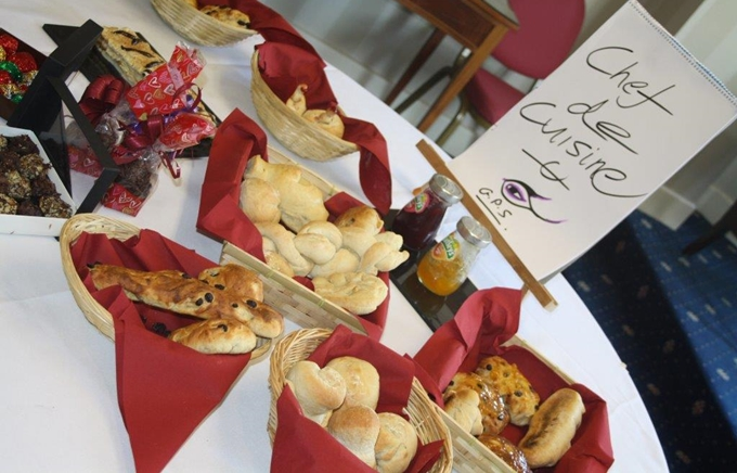 Amazing baked items from a british bake off team building activity