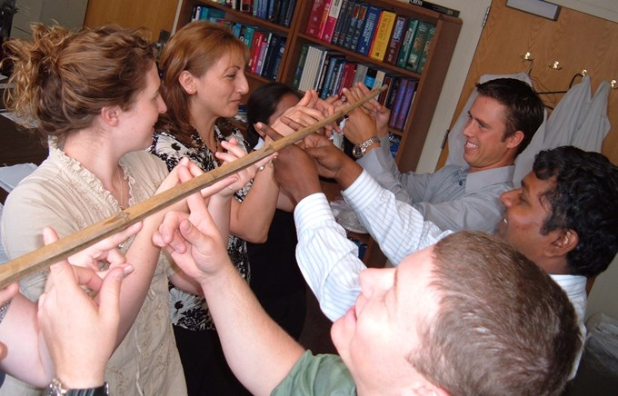 Helium Stick Free Team Building Activity